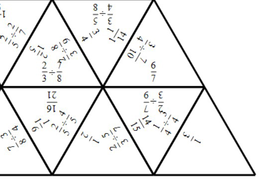 Fractions - Dividing - Tarsia