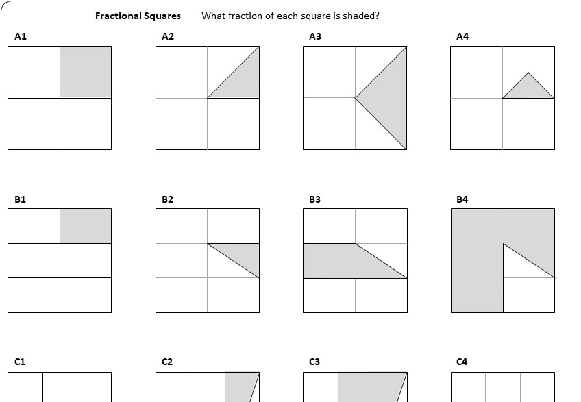 Fractions - Introduction - Worksheet B