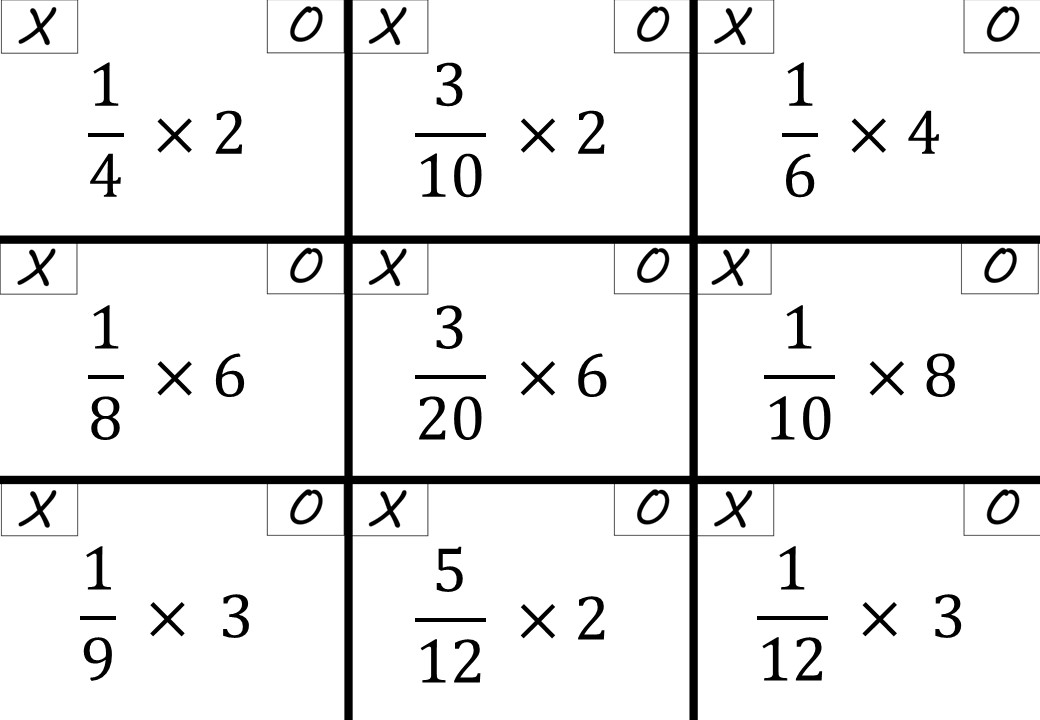 Fractions - Simplifying - Noughts & Crosses