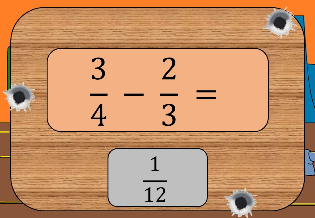 Fractions - Subtracting - Shootout