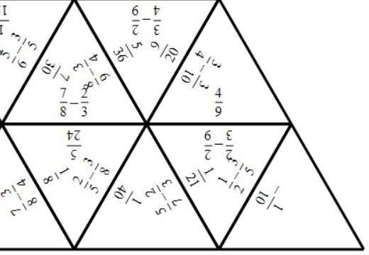 Fractions - Subtracting - Tarsia