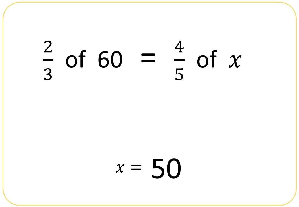 Fractions of Quantities - Reverse - Bingo OA