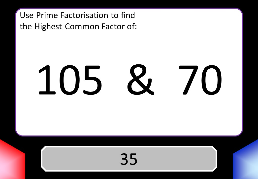 Highest Common Factor - Prime Factorisation - Blockbusters