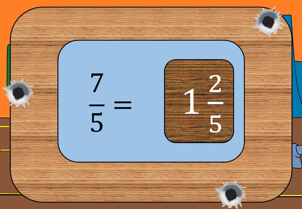 Improper Fractions to Mixed Numbers - Shootout