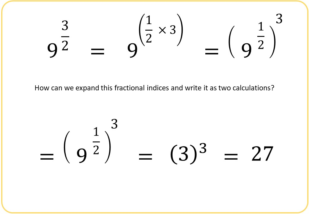 Indices - Fractional - Demonstration