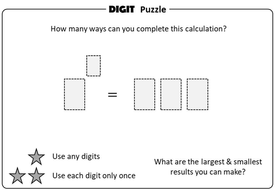 Indices - Introduction - Digit Puzzle