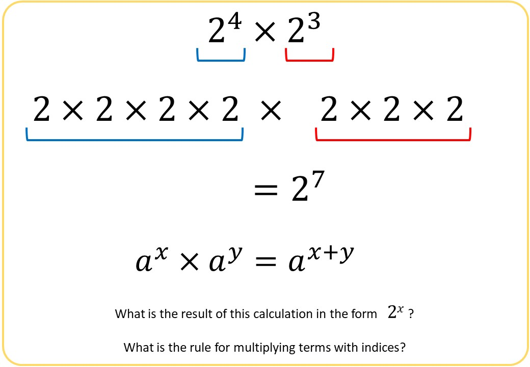 Indices - Multiplying & Dividing - Demonstration