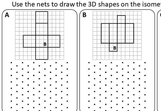 Isometric Grids - Worksheet A