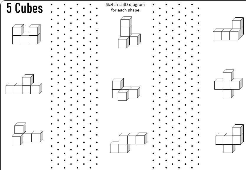 Isometric Grids - Worksheet D