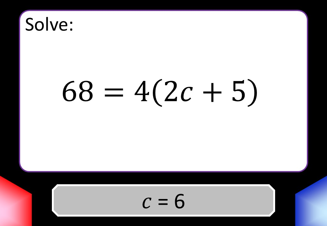 Linear Equations - Brackets - With Coefficients - Blockbusters