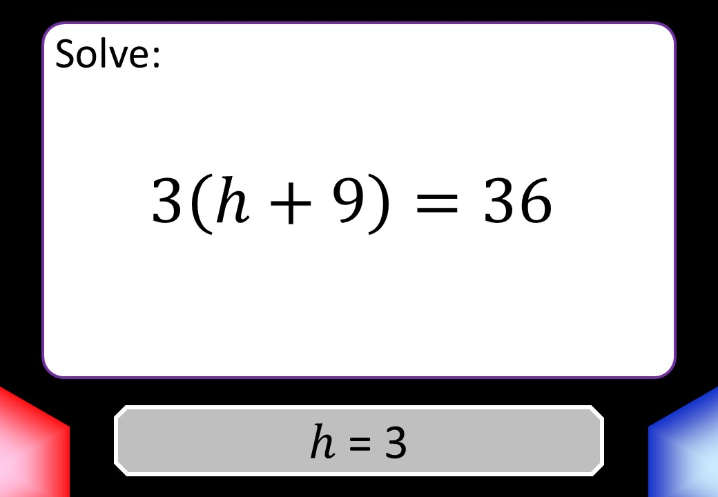Linear Equations - Brackets - Without Coefficients - Blockbusters