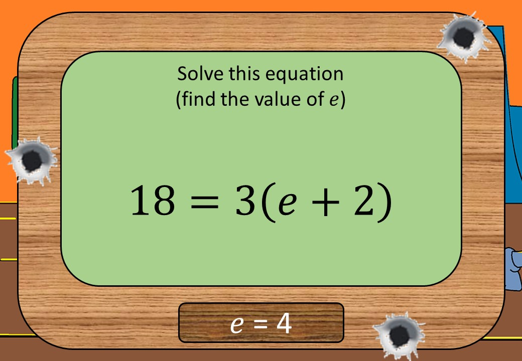 Linear Equations - Brackets - Without Coefficients - Shootout