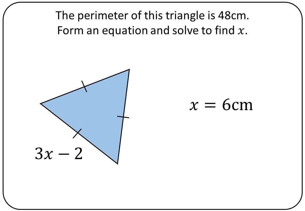 Linear Equations - Forming & Solving - Bingo OA
