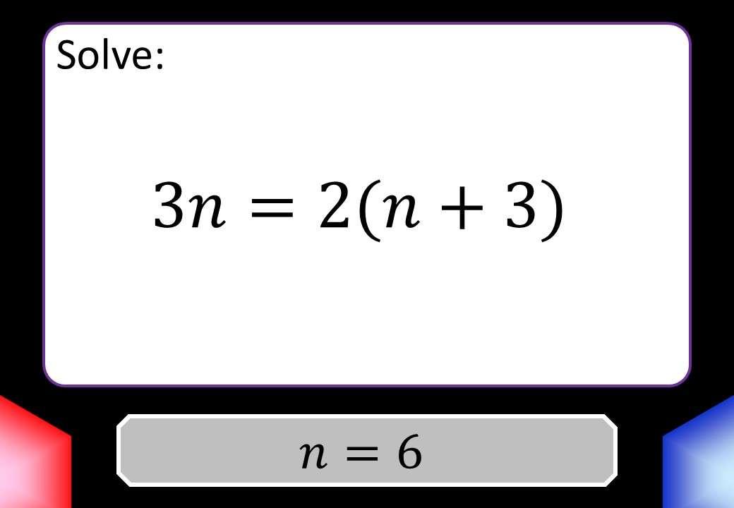 Linear Equations - Mixed - Blockbusters