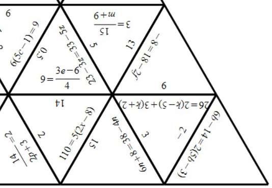 Linear Equations - Mixed - Tarsia