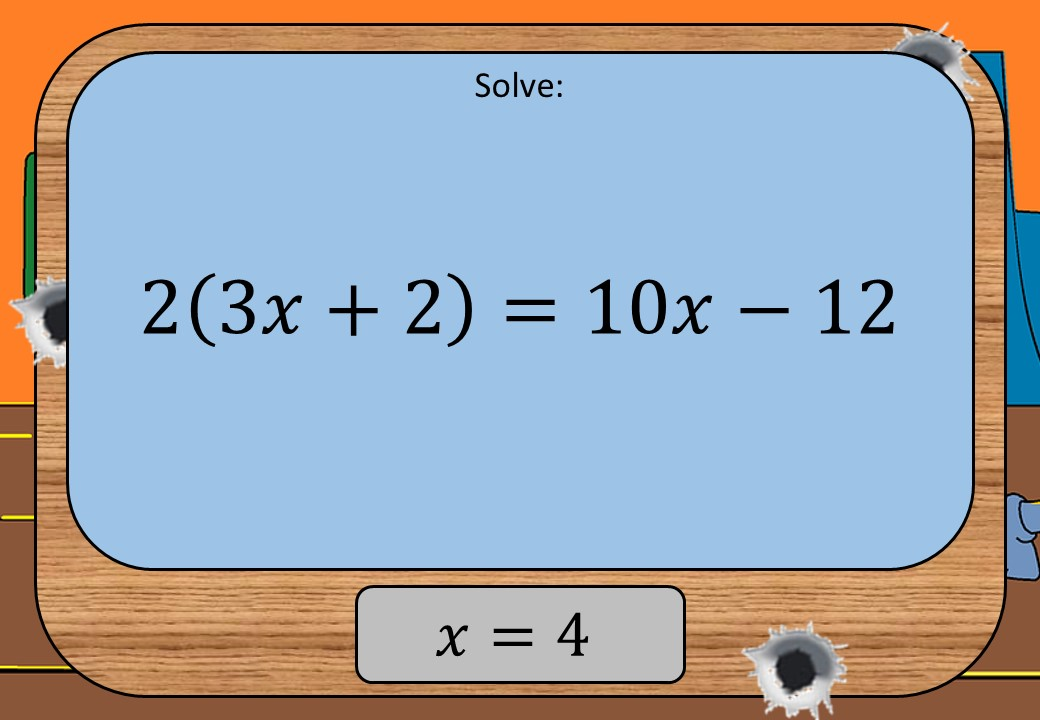 Linear Equations - Variable on Both Sides - Brackets - Shootout