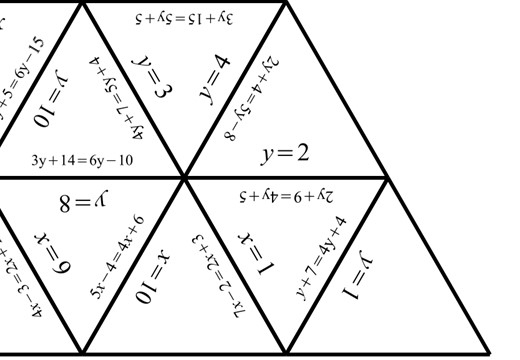 Linear Equations - Variable on Both Sides - Tarsia