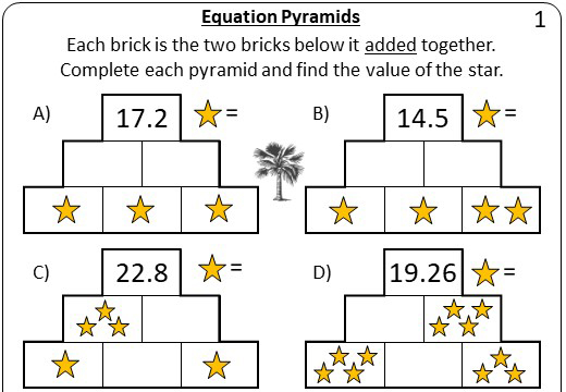 Linear Equations - Variable on One Side - 1-Step - Calculator - Pyramids