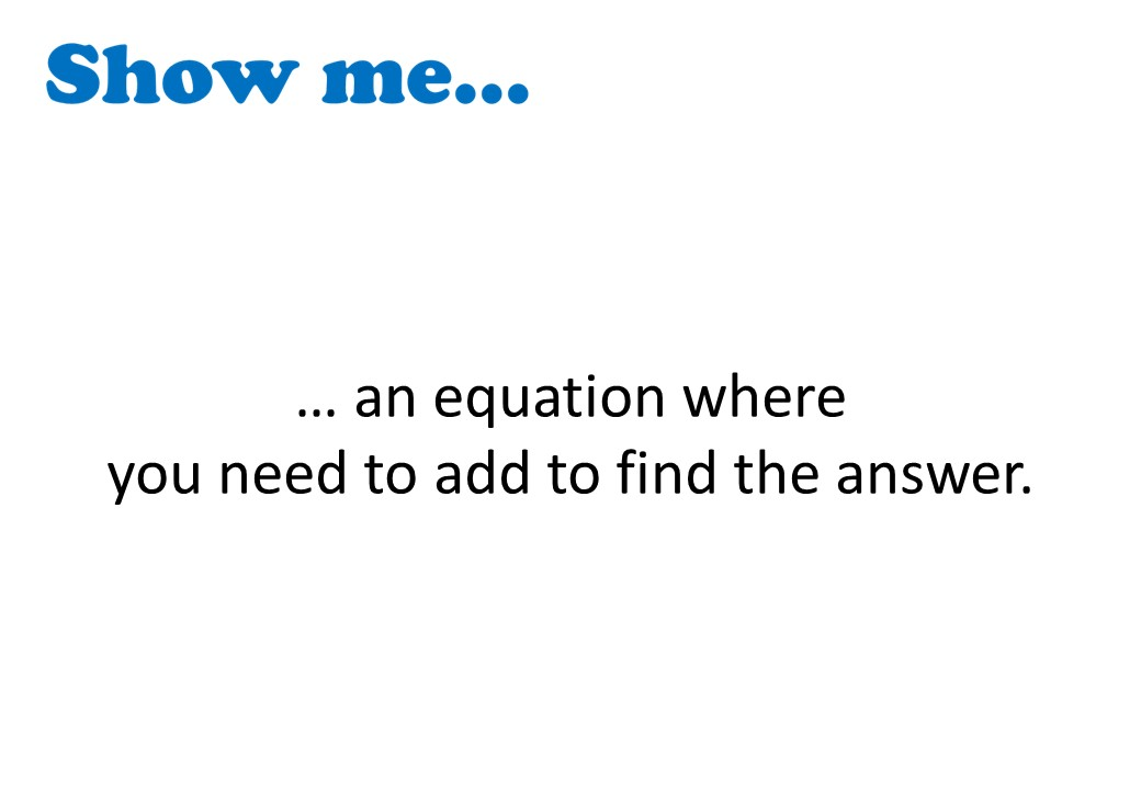 Linear Equations - Variable on One Side - 1-Step - Calculator - Show Me