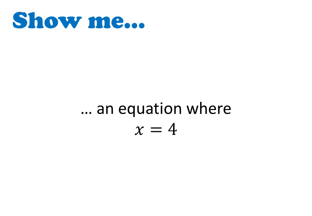 Linear Equations - Variable on One Side - 1-Step - Non-Calculator - Show Me