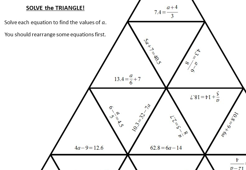 Linear Equations - Variable on One-Side - 2-Step - Calculator - Worksheet A