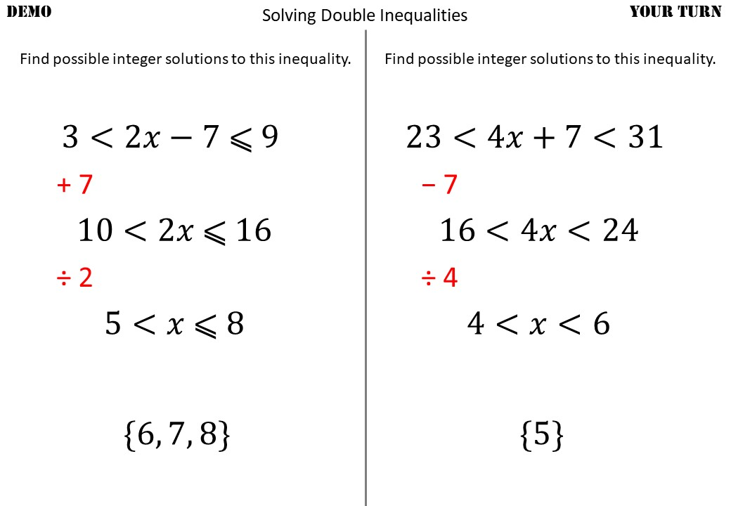 Linear Inequalities - Solving - Demonstration