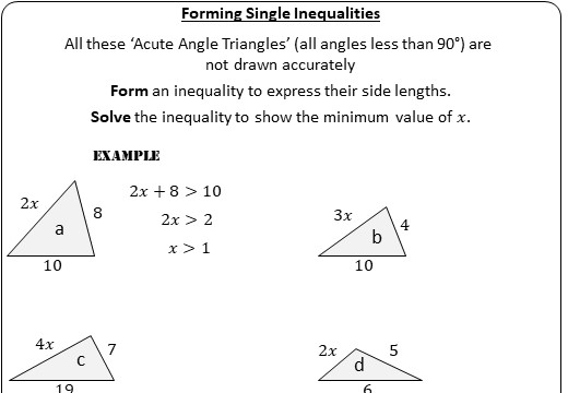 Linear Inequalities - Solving - Worksheet A