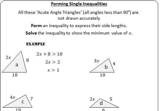 Linear Inequalities - Solving - Worksheet A