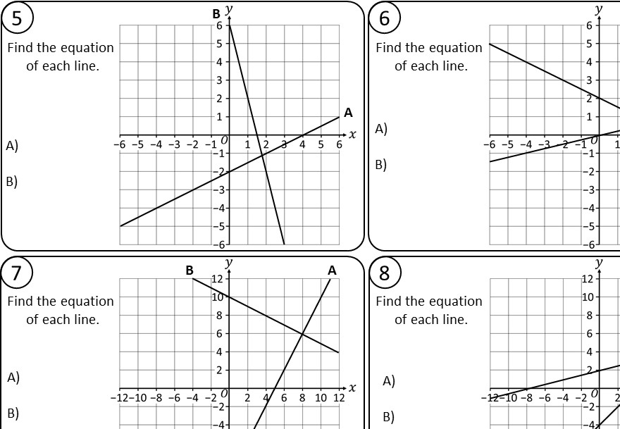 Lines - Equation - Relay Race