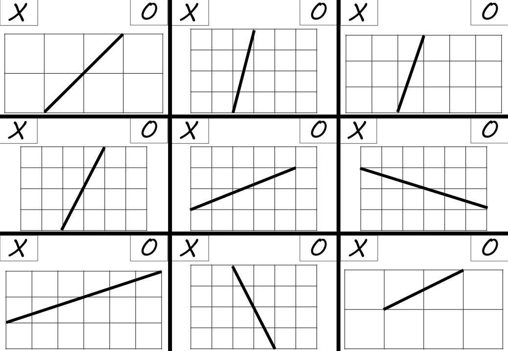 Lines - Gradient - Noughts & Crosses