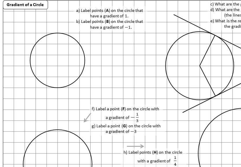 Lines - Gradient - Worksheet D