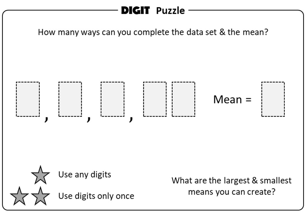 Mean - Reverse - Digit Puzzle