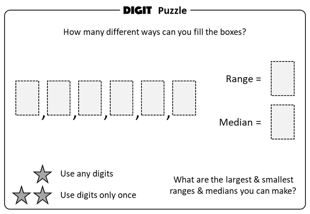 Median - Digit Puzzle