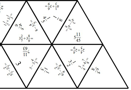 Mixed Numbers - Adding & Subtracting - Tarsia