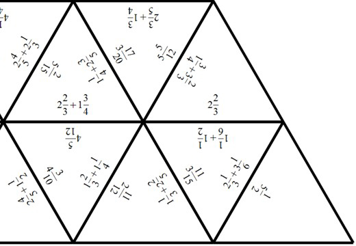 Mixed Numbers - Adding - Tarsia