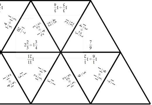 Mixed Numbers - Dividing - Tarsia