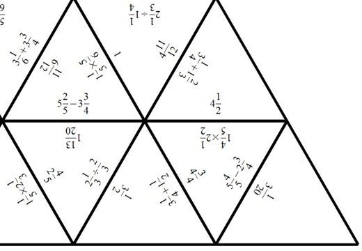 Mixed Numbers - Mixed - Tarsia