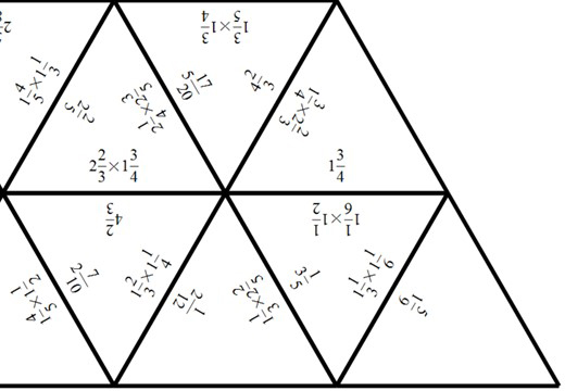 Mixed Numbers - Multiplying - Tarsia