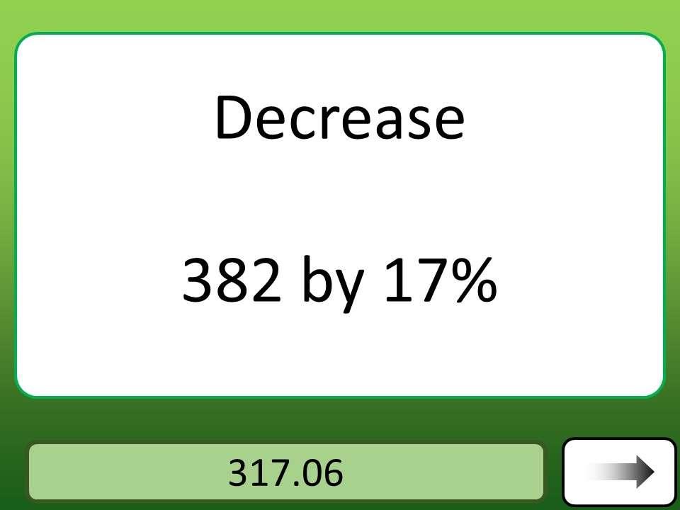Percentage - Decrease - Calculator - Car Race