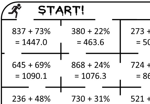 Percentage - Increase - Calculator - True or False Maze