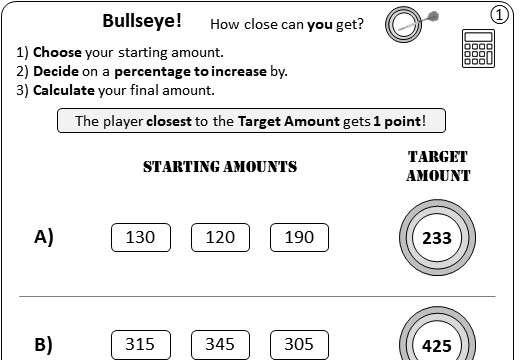 Percentage - Increase - Calculator - Worksheet B