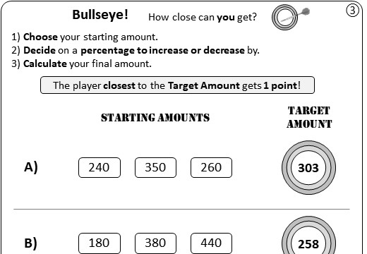 Percentage - Increase & Decrease - Worksheet B