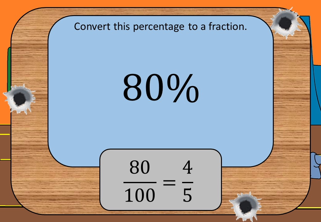 Percentages to Fractions - Shootout
