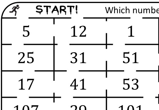 Prime Numbers - True or False Maze