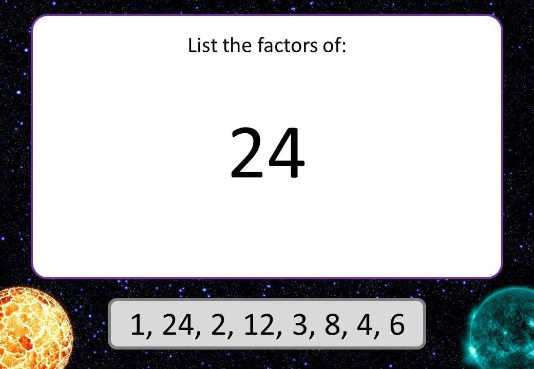 Primes, Factors & Multiples - 3 Stars