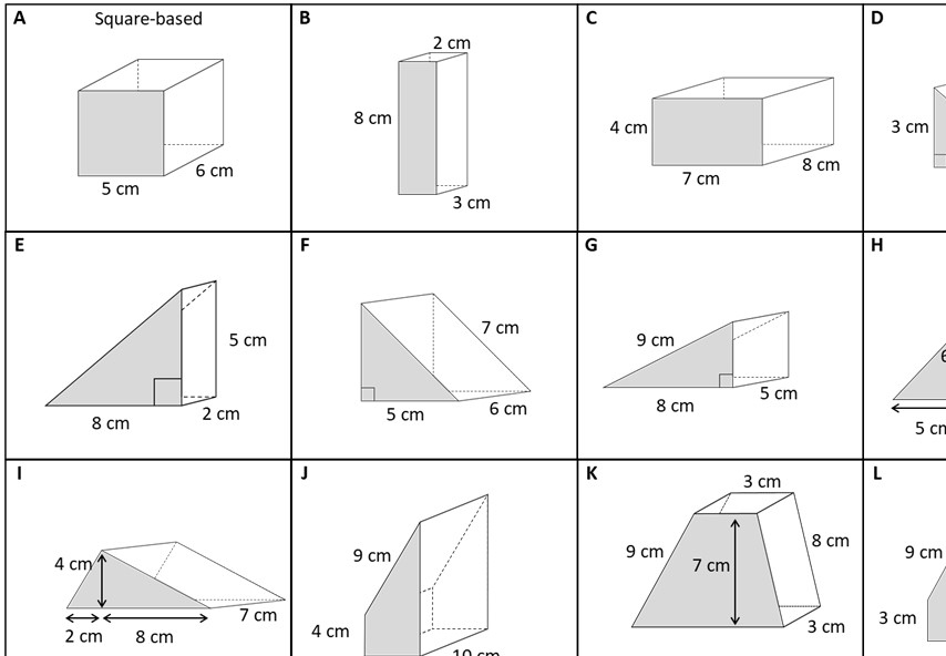 Prism - Surface Area - Card Match B