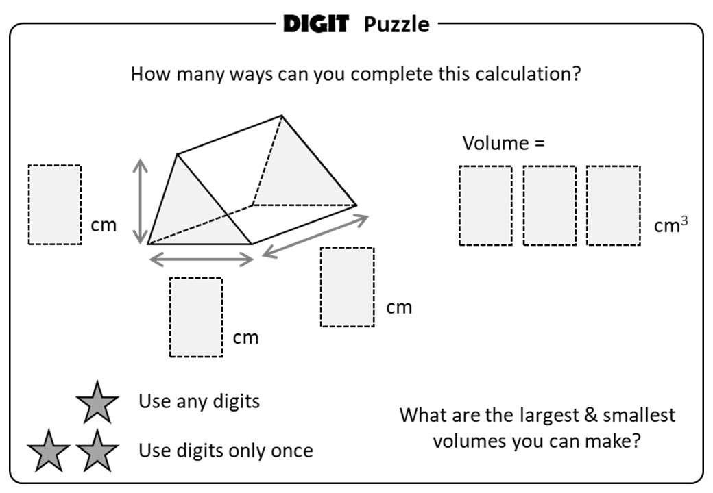 Prism - Volume - Digit Puzzle