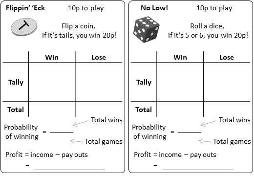 Probability - Expectation - Activity A