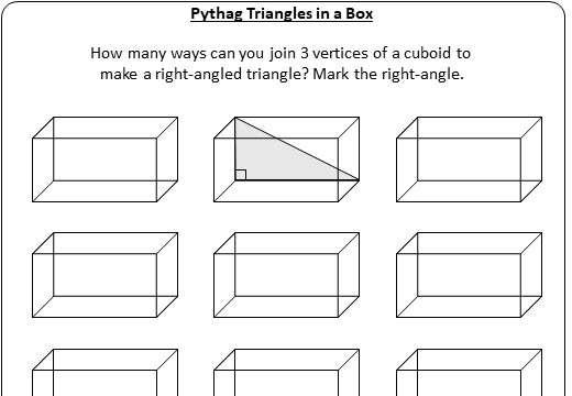 Pythagoras - 3D - Worksheet A