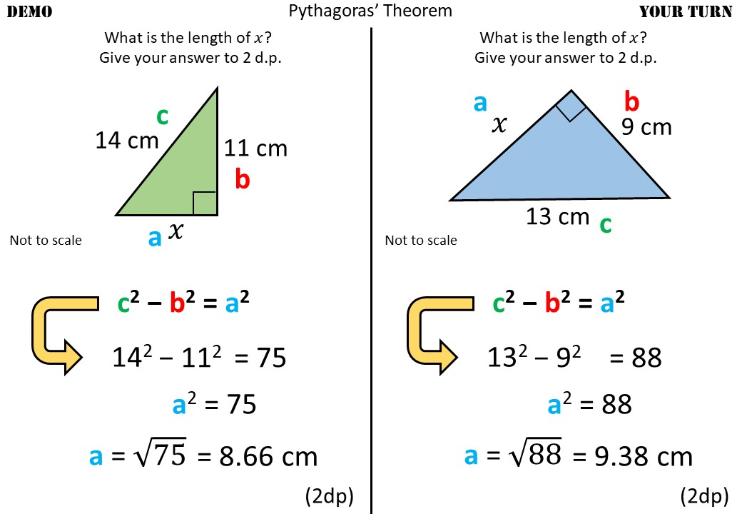 Pythagoras - Finding AB - Demonstration